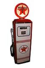 Neat late 1950s Mobil Oil Tokheim model #300 restored service station gas pump.  Restored to day one condition. - Front 3/4 - 154653
