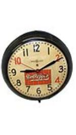 1940s General Electric Dr. Pepper electric diner clock in working condition. - Front 3/4 - 154751