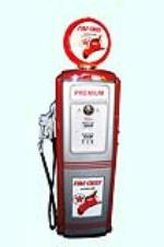 Stunning late 1940s-50s restored Texaco Fire Chief Gasoline Tokheim model #39 service station gas pump.  Exquisite restorati... - Front 3/4 - 158126