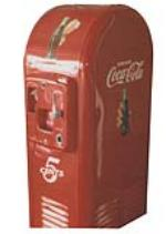 Extremely hard to find and nicely restored 1946 Coca-Cola Jacobs 26 cathedral topped coin-operated soda machine. - Front 3/4 - 158332