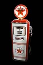 Fabulous 1950's Texaco Oil Tokheim model #300 restored service station gas pump. - Front 3/4 - 162767