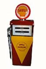 Seldom seen late 50's-early 60's Shell Oil A.O.Smith restored service station gas pump. - Front 3/4 - 162771