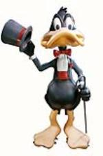 Large vintage Warner Brothers Studio Daffy Duck three dimensional statue. - Front 3/4 - 162858