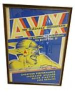 """1930's AVX Oil Tune-Up """"The Oiliness Concentrate"""" garage poster depicting a windswept racer with helmet. - Front 3/4 - 163165"""