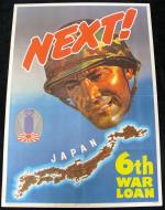 "World War II ""Next"" War Bonds Poster featuring a U.S. Marine and the Goal of Japan. - Front 3/4 - 163363"