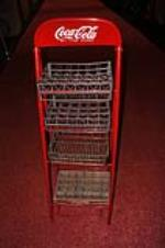 Addendum Item - Restored 1950's Coca-Cola service station/general store bottle rack with original cases. - Front 3/4 - 166673