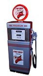 Fabulous late 1950's-early 60's Texaco Fire Chief Wayne model #505 restored service station gas pump. - Front 3/4 - 174849