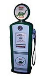 Amazing late 1950's restored Sinclair Oil Bennett service station gas pump with Dino graphics. - Front 3/4 - 174856