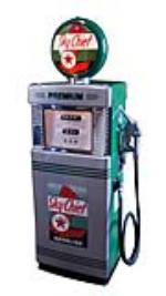 Late 1950's-early 60's Texaco Sky Chief Gasoline Wayne model #505 restored gas pump. - Front 3/4 - 174857