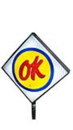 Wonderful 1960's Chevrolet OK Used Cars single-sided light-up dealership sales lot sign on stand. - Front 3/4 - 175016