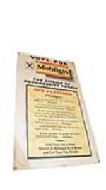 "Never before seen 1930's ""Vote for Mobilgas"" canvas station banner. - Front 3/4 - 177875"