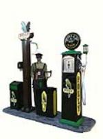 Spectacular 1930's Polly Gas service station Diorama - Front 3/4 - 177980