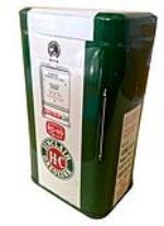 Vintage 1950's Sinclair Oil promotional gas pump shaped coin-bank. - 177998