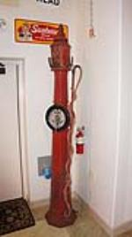 Museum quality 1920's Romort filling station air meter tower in all original condition. - Front 3/4 - 178772