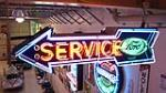 1930's-40's Ford Service double-sided neon arrow sign with logo. - Front 3/4 - 179744