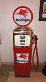 Very nice Southwest service station gas pump restored in Mobilgas regalia. - Front 3/4 - 180048