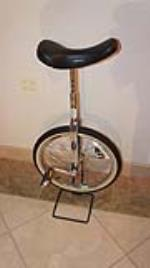 "Circa 1950's-60's Schwinn Bicycles ""Unicycle"". - Front 3/4 - 180322"