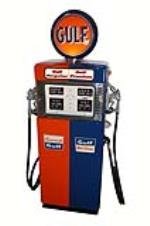 Late 1950's Gulf Oil Wayne 505 dual dispensing gas pump. - Front 3/4 - 181916