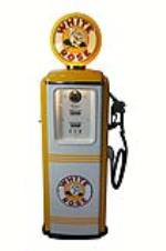 1950's White Rose Gasoline Tokheim model 39 restored service station gas pump. - Front 3/4 - 181924