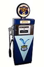 Late 1950's Richfield Ethyl Wayne 505 restored service station gas pump. - Front 3/4 - 181929