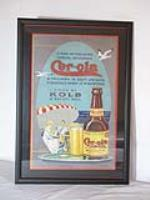 "Rare 1920s KOLB Brewing Company ""Cer-Ola"" Soda Beverage retailer's display sign - Front 3/4 - 184796"