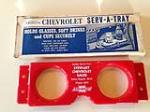 Extremely unusual 1940s-50s NOS Chevrolet Serv-A-Tray glove box drink holder. - Front 3/4 - 184864