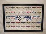 1988 Chevrolet Corvette dealership showroom poster featuring all of the technical data for all of the years. - Front 3/4 - 186388