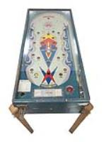 1930s Action wooden pin ball machine found in all original working condition. - Front 3/4 - 187994
