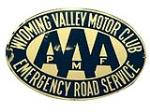 Wyoming Valley Motor Club AAA single-sided porcelain sign. - Front 3/4 - 188049
