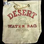 Vintage Desert Water Bag made of canvas. Appears unused. - Front 3/4 - 192052