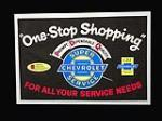 "NOS 1964 Chevrolet Service Department ""One Stop Shopping"" display poster - Front 3/4 - 192282"