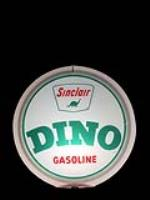 Nifty NOS late 1950s Sinclair Dino Gasoline gas pump globe in a Capcolite body. - Front 3/4 - 192343