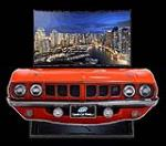 One of a kind 1971 Hemi Cuda front end entertainment TV display. - Front 3/4 - 192375
