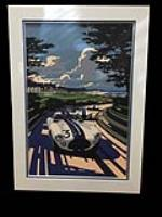 Reserve Item - The original Tim Layzell oil painting commissioned for the 2015 Pebble Beach RetroAuto at the Pebble Beach Concours d'Elegance. - Front 3/4 - 192461