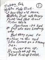 Johnny Cash handwritten Dialog for a Ford Motor Company truck commercial. NO RESERVE. - Front 3/4 - 46423