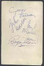 The Beatles signed Parlophone Promo Card, 1963. - Front 3/4 - 46624