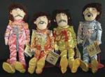 Beatles Sgt. Peppers Lonely Hearts Club Band Plush Dolls. - Front 3/4 - 46996