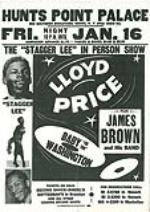 1959 Lloyd Price and James Brown Concert Handbill. - Front 3/4 - 46999