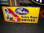 1950s Gates single-sided tin garage sign. - Front 3/4 - 47120