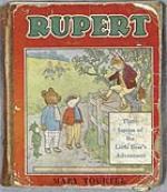 Paul McCartneys childhood Rupert The Bear book, 1948. RESERVE. - Front 3/4 - 47424
