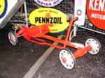 "1950s Childs ""Speed Racer"" restored pedal car. - Front 3/4 - 63534"