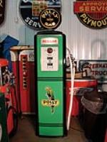 Impressive Polly Tokheim 39 restored service station gas pump. - Front 3/4 - 63650