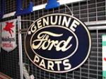 Nice 1930s Ford Genuine Parts double-sided tin garage sign. - Front 3/4 - 65304