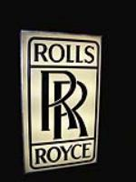 Hard to acquire 1960s Rolls Royce light-up dealership sign. - Front 3/4 - 66391