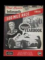 Neat 1955 Indy 500 Office year book. - Front 3/4 - 72315