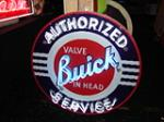 Late 40s-early 50s Buick Authorized Service double-sided porcelain dealership sign with neon added. - Front 3/4 - 73518