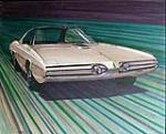 Museum quality 1964 Concept drawing for a 1967 Plymouth Sport Fury show car; not built. - Front 3/4 - 79571