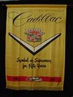 Scarce 1952 Cadillac 50th Anniversary showroom banner sign. - Front 3/4 - 82436