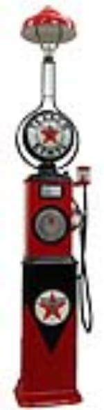 Marvelous and rare 1929 Texaco Filling Station Bowser model #310 clock faced gas pump with station lighter attached. - Front 3/4 - 97370