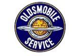 Spectacular Oldsmobile Service double-sided porcelain auto-dealership sign. - Front 3/4 - 97848